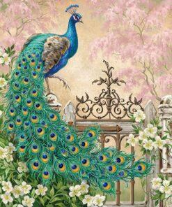 Șervețel - Noble Peacock - 33x33 cm