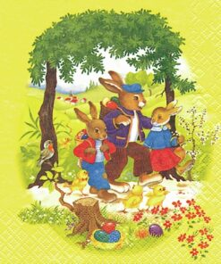 servetel motiv de pasti cu iepuri