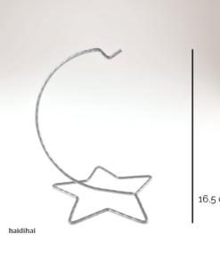 Suport metalic - argintiu – 16,5 cm – stea