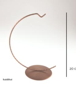 Suport metalic decorativ arămiu – glob – 20 cm - glob 12 cm